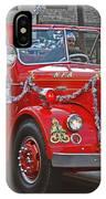 Santa On Fire Truck IPhone Case