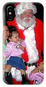 Santa Poses With Fans At Annual Christmas Parade Eloy Arizona 2004 IPhone Case