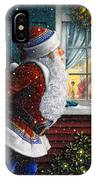 Santa's At The Window IPhone Case