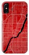 Saskatoon Street Map - Saskatoon Canada Road Map Art On Color IPhone Case