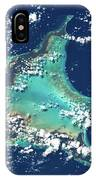 Satellite View Of Turks And Caicos IPhone Case