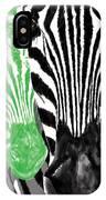 Savannah Greetings Zebra Cane Full Green Variant IPhone Case