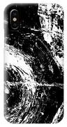 Save The Planet - Black And White -horizontal Formal -abstract By Laura Gomez IPhone Case