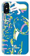 Saxy Blue Poster IPhone Case