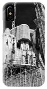 scaffolding and cranes above Sagrada Familia Barcelona Catalonia Spain IPhone Case