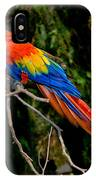 Scarlet Macaw Perched IPhone Case
