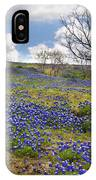 Scattered Bluebonnets IPhone Case