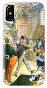 Scene In The Louvre 1911 IPhone Case