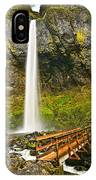 Scenic Elowah Falls In The Columbia River Gorge In Oregon IPhone Case
