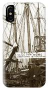 Schooner Luisa D Sails For Nome Alaska  About April 18 1902 IPhone Case