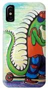 Scooter Iguana IPhone Case