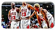 Scottie Pippen With Michael Jordan And Dennis Rodman IPhone Case