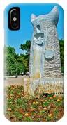 Sculpture And Flowers In Antalya Park Along Mediterranean Coast-turkey  IPhone Case
