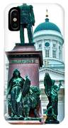 Sculpture Of Alexander II In Cathedral Of Helsinki-finland IPhone Case