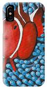 Sea Anemone With Clown Fish IPhone Case