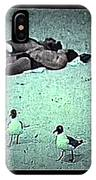 Sea Gulls And Sunbathers Collage Coney Island New York City 1977-2013 IPhone Case