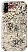 Sea Map By Olaus Magnus IPhone Case