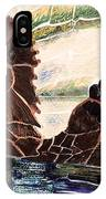 Sea Otter Two IPhone Case