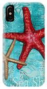 Sea Shore Original Coastal Painting Colorful Starfish Art By Megan Duncanson IPhone Case