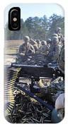 Seabees Fire The M2 .50-caliber Machine IPhone Case