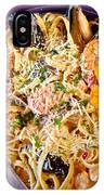 Seafood Fetticinni Alfredo At Cafe Cups Restaurant In Homer-ak   IPhone Case