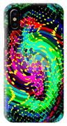 Seahorse Phone Case Art Colorful Dynamic Abstract Geometric Design By Carole Spandau 130  Cbs Art IPhone Case