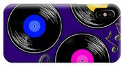 Seamless Music Pattern With Vinyl IPhone Case