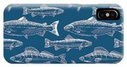 Seamless Pattern With Hand Drawn Fish IPhone X Case
