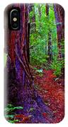 Searching For Friends Among The Redwoods IPhone Case