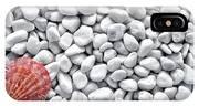 Seashell On White Pebbles IPhone Case