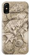 Seashells Collection Drawing IPhone Case