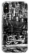 Seattle City Light Train In Bw IPhone Case