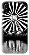 Seattle Great Wheel Black And White IPhone Case