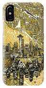 Seattle Skyline Abstract 2 IPhone Case