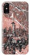 Seattle Skyline Abstract 5 IPhone Case