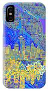 Seattle Skyline Abstract 6 IPhone Case