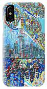 Seattle Skyline Abstract 7 IPhone Case