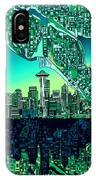 Seattle Skyline Abstract IPhone Case