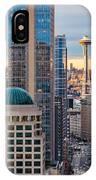 Seattle Space Needle Golden Sunset Light IPhone Case