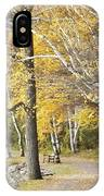 Secluded Lake Road IPhone Case
