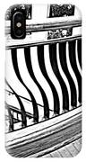 Second Floor In Black And White IPhone Case