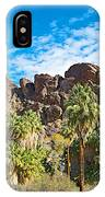 Second Largest Stand Of Fan Palms In The World In Andreas Canyon In Indian Canyons-ca IPhone Case