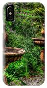 Secret Garden Birdbath IPhone Case