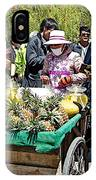Selling Fresh Pineapple On Street In Lhasa-tibet    IPhone Case