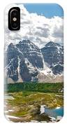 Sentinel Pass And Larch Valley IPhone Case