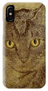 Sepia Cat IPhone Case