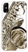 Sepia Tone Photograph Of A Tenor Saxophone 3356.01 IPhone Case