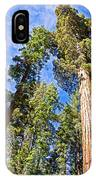 Sequoias Reaching To The Clouds In Mariposa Grove In Yosemite National Park-california IPhone Case