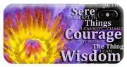 Serenity Prayer With Lotus Flower By Sharon Cummings IPhone X Case