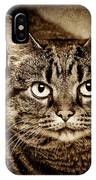 Serious Tabby Cat IPhone Case